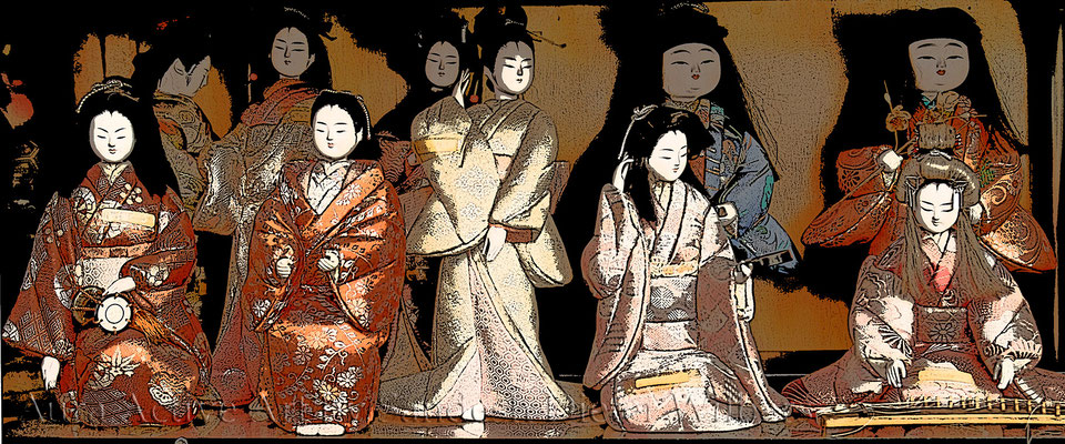 Japanese Puppets 3 60x25 cm