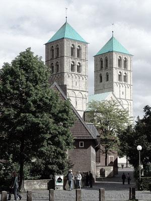 Dom vom Überwasserkirchplatz Münster - 2  60x80 cm