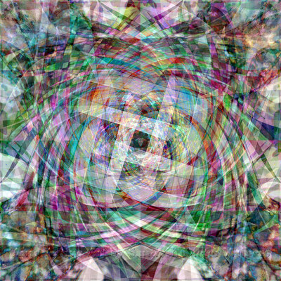 043 Chaos in Ordnung  60x60 cm