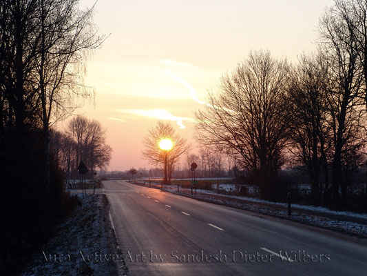 Winterlandstraße nach Ascheberg  80x60 cm