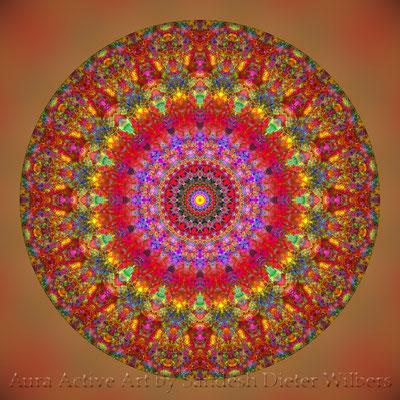 Mandala - Japabima Rust - basis 2o7xj n 60x60 cm
