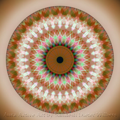 From the sturcture of a building front Mandala - 3aub n 60x60 cm