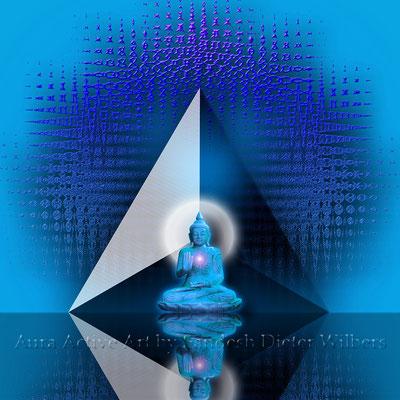 6 Mit dem Herzen hören & sprechen / außen  70x70 cm - 50x50 cm