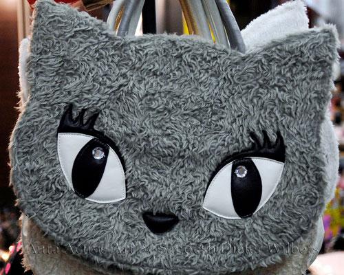 Katzentasche - gesehen in Kyoto  50x40 cm