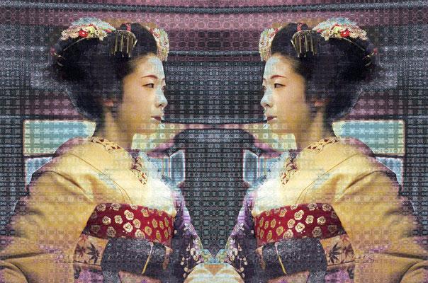 097 Maiko-Mirror H  80x53 cm