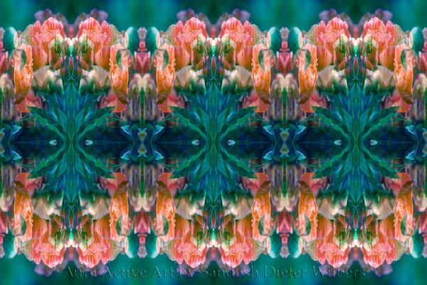 4296 Pfingstrosen Muster - 5vu  60x40 cm
