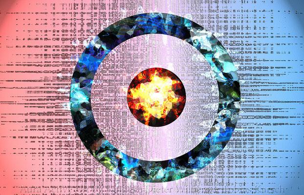 7 Der Kreis mit Punkt 56x36 cm