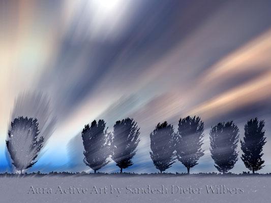 Schattenbäume 5 - 2015  120x90 cm