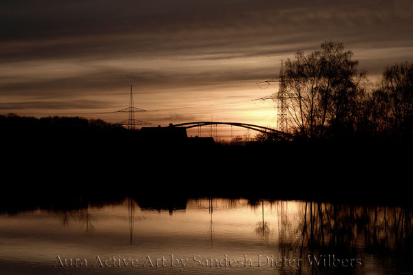 Sunset Hiltrup Dortmund-Ems-Kanal - FF  60x40 cm