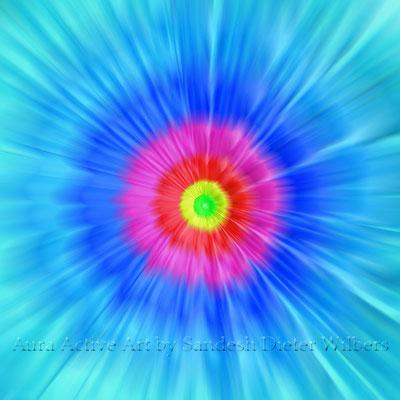 Gerbera-Power hellblau  70x70 cm