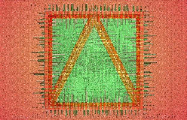 1 Das Dreieck im Quadrat  56x36 cm