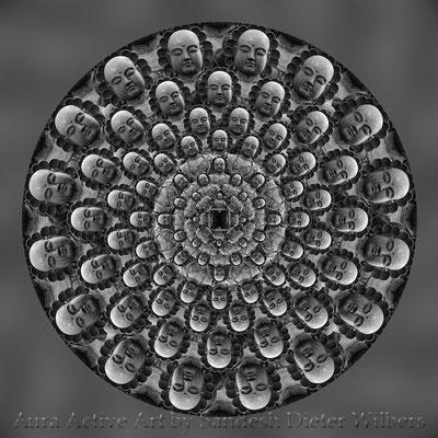 Mandala - Japabima Buddha - 2 NEU n 60x60 cm