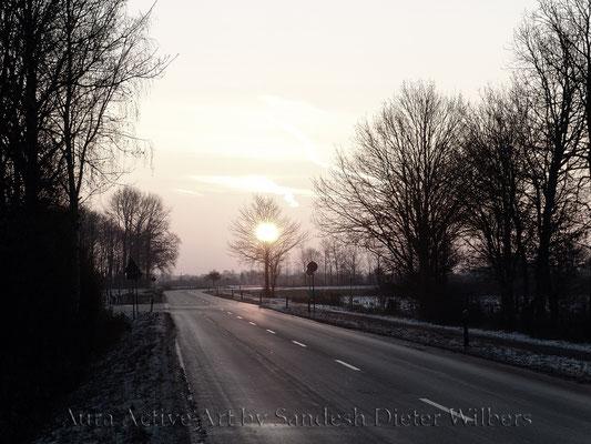 Winterlandstraße von Davensberg nach Ascheberg - C vu  80x60 cm