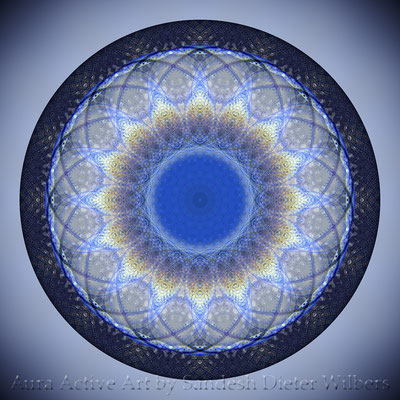 Mandala - Tea from a nearly empty Cup - 2uxa n 60x60cm