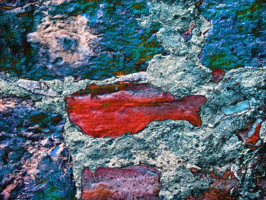 Gefärbtes Gemäuer - B xj  80x60 cm