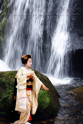 Geisha's Waterfall D - 2016  40x60 cm