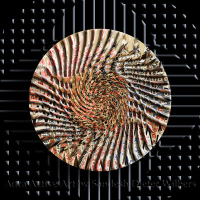 Obstkisten Mandala 1a - H  60x60 cm