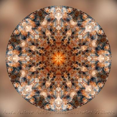 Mandala - Japabima Rust - basis 1b n 60x60 cm