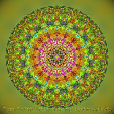 Mandala - Japabima Rust - basis 2o7xh n 60x60 cm