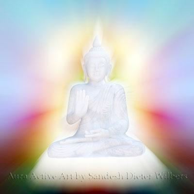 Buddha Lichtmuster 5b  120x120 cm oder kleiner