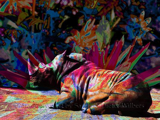 Was Nashorn träumt - 6an  80x60 cm