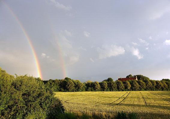 Regenbogen bei Haus Byink 85x60 cm