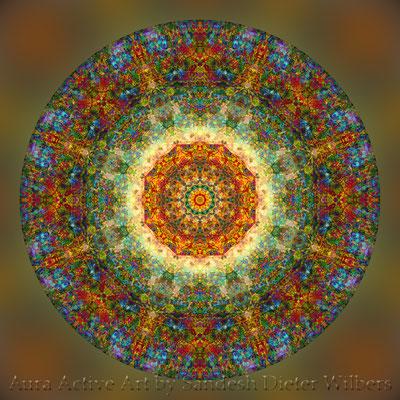 Mandala - Japabima Rust - basis 4exa n 60x60 cm