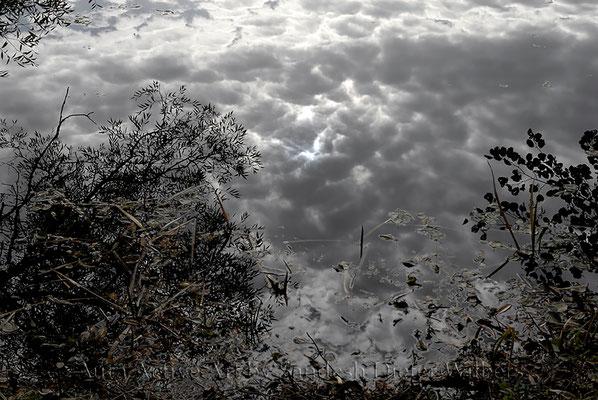 Herbsthimmel im Klutesee  VU  30x20 cm