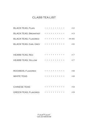 Class Tea List,  Fleur*FLeur*