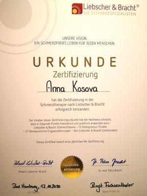 3. Zertifizierung, Oktober 2020