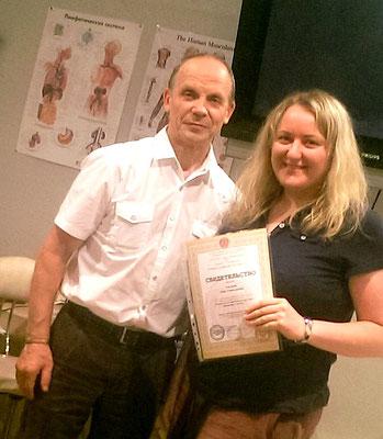 Viszerale Therapie Ausbildung mit A. Ogulov, 2014 St. Petersburg