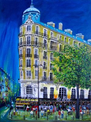Café le Dome, Acryl auf LW/K, 60 x 80 cm