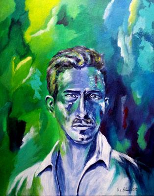 Albert Weisgerber, Portrait 3, Acryl auf LW/KR, 40 x 50 cm