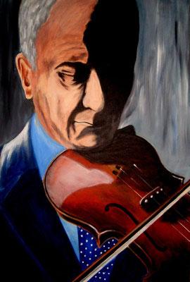 der Klang der Geige, Acryl auf Leinwand/KR, 40 x 60 cm
