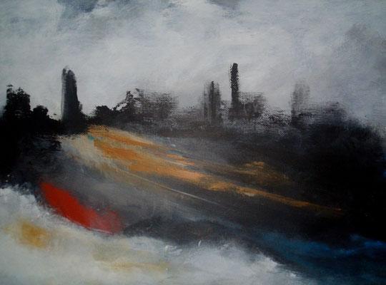 Endstation, Acryl auf Leinwand/KR, 60 x 40 cm