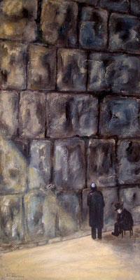 an der Kotta, Acryl auf Leinwand mit KR, 40 x 80 x 4 cm