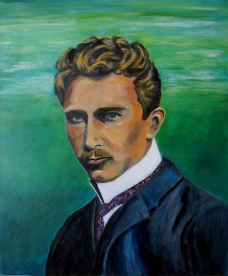 Albert Weisgerber, Portrait 1, Acryl auf LW/KR, 50 x 60cm