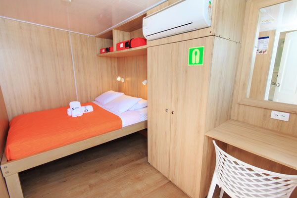 Master bed room cabin of the vessel Galapagos Dive Liveaboard, Galapagos Shark Diving