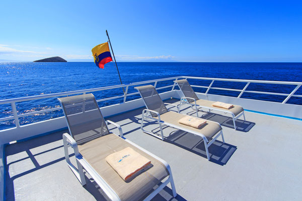 Sundeck of the vessel Galapagos Dive Expedition