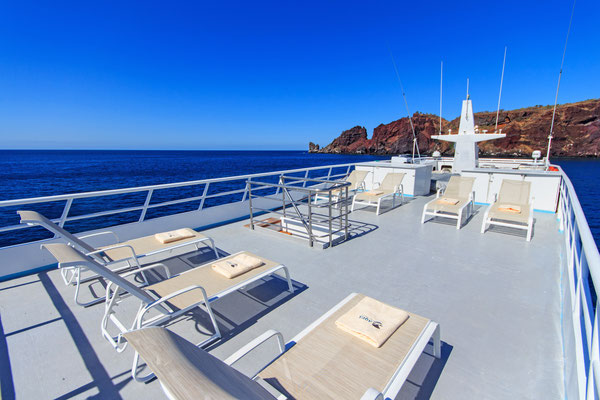 Sundeck of the boat Galapagos Dive Expedition