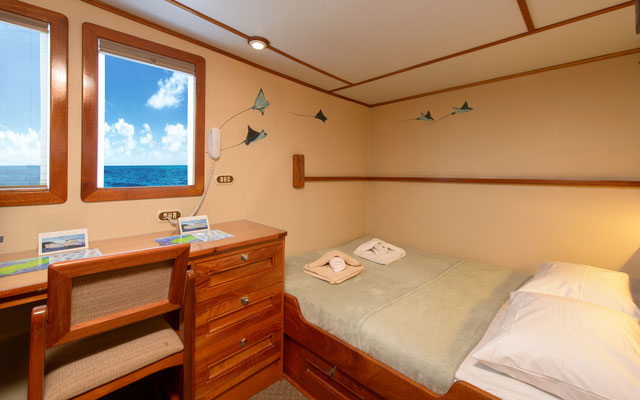 Suite - Cabins of the ship Seahunter in Cocos Island, ©Unterseahunter Group