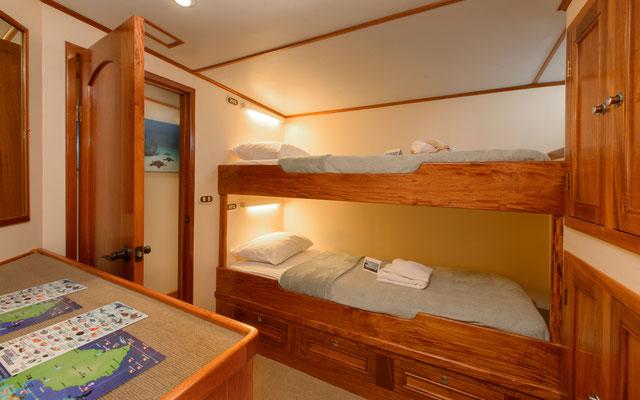 Kabinen des Schiffes Seahunter auf der Kokosinseln, ©Underseahunter Group