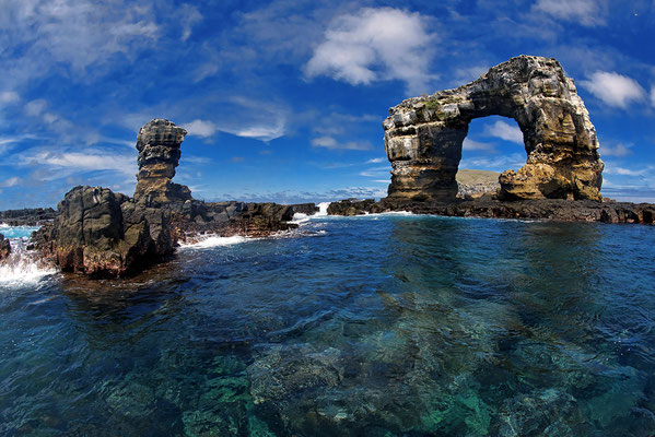 Darwin Arch in the north of the Galapagos Islands, ©Galapagos Shark Diving