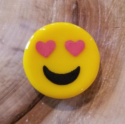 Aimant emoji en verre et peinture fusionnés 1 pouce 5$