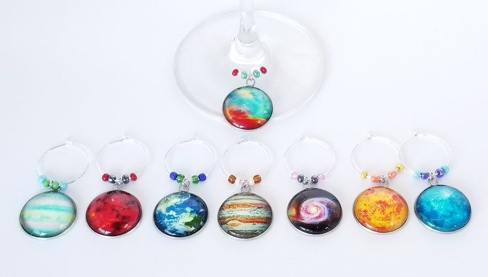 Marques verres planètes (8) (illuminent dans le noir) 28$