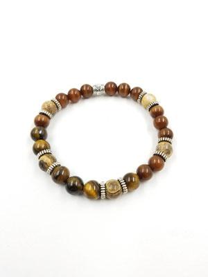 Bracelet avec pierres semi-précieuses 20$