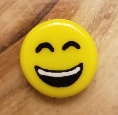 Aimant emoji en verre et peinture fusionné 1 pouce 5$