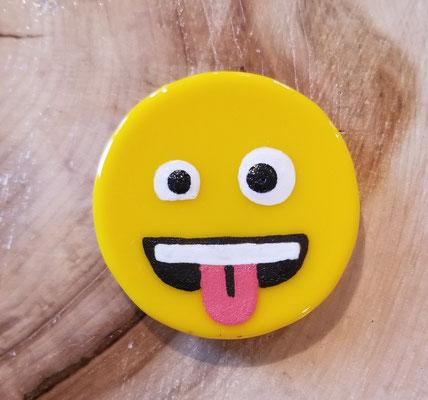 Aimant emoji en verre et peinture fusionnés 2 pouces 12$