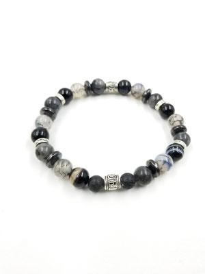 Bracelet avec pierres volcaniques et pierres semi-précieuses 20$