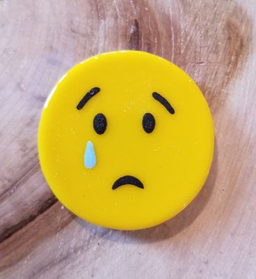 Aimant emoji en verre et peinture fusionné 2 pouces 12$